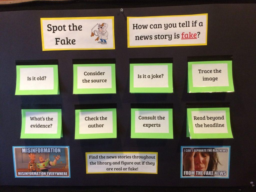 Spotting fake news - librarian Janelle Hagen - Lakeside School Seattle