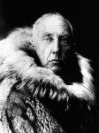 Roald Amundsen in fur skins