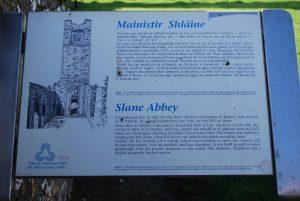 Slane Abbey - info plaque