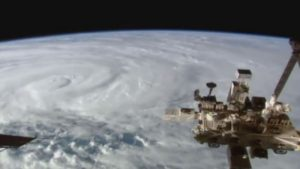 Cyclone Debbie seen from the International Space Station